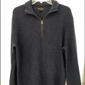 Banana republic merino wool half zip.